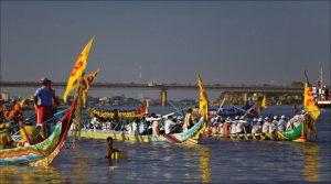 La fête des eaux Bon Om Touk au Cambodge