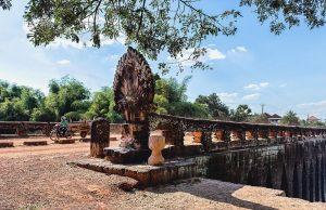 Le pont Spean Praptos (Pont Nâga), l'ancien pont de l'empire Angkorien