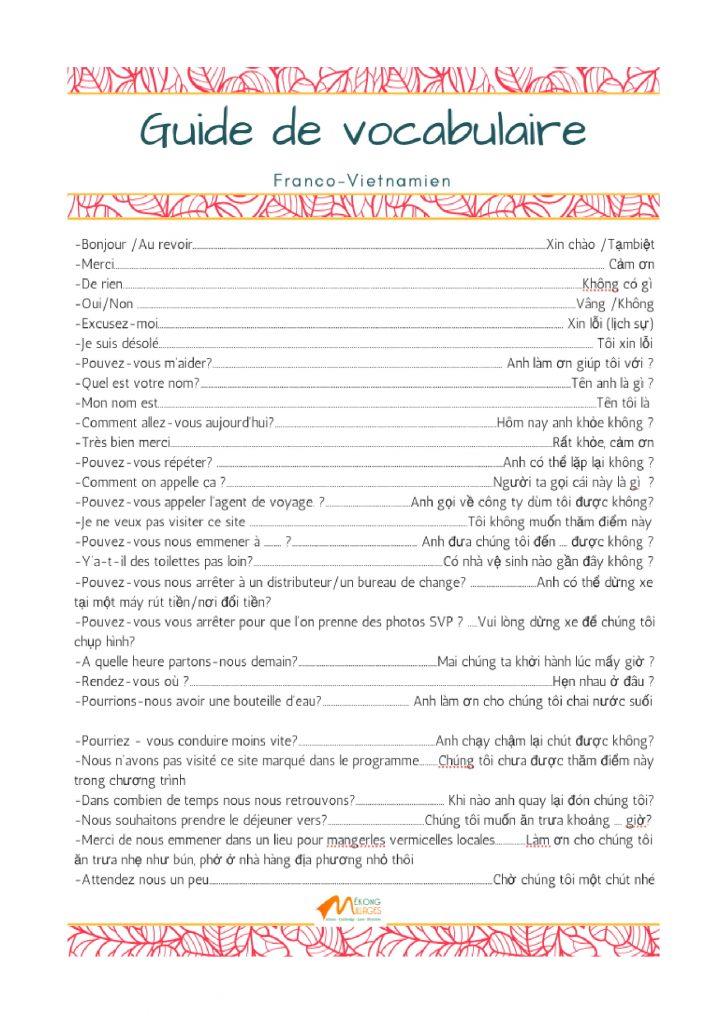 Petit guide de conversation franco-vietnamien